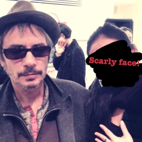 agnes.b voyage party with Leos Carax (french filmdirector)!