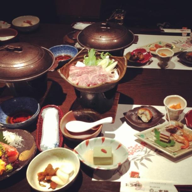 japon after ski good diner! ryokan