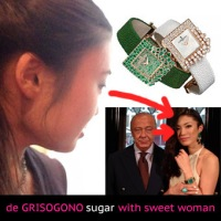 de GRISOGONO sugar with sweet woman!