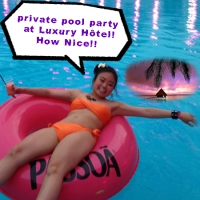 private pool party at Luxury Hôtel with PASSOA
