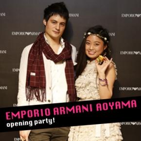 EMPORIO ARMANI AOYAMA openingparty!