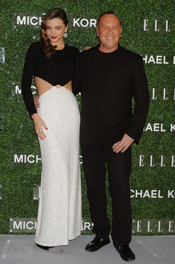 Michael Kors and Miranda Kerr Celebrate Elle Japon December Cover