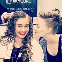 amazing hair style by MiraCurl (back stage)