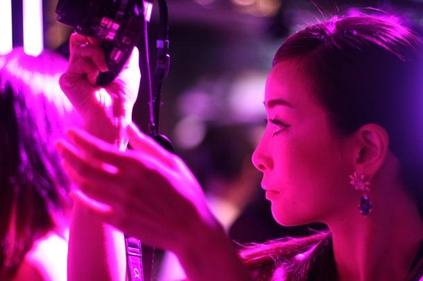 Pink night at YSL Beauty salon15