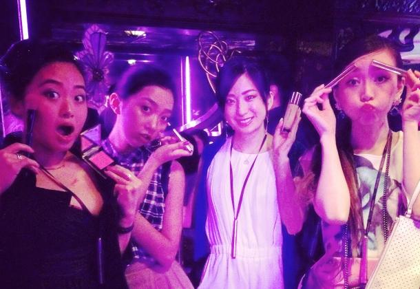 Pink night at YSL Beauty salon19