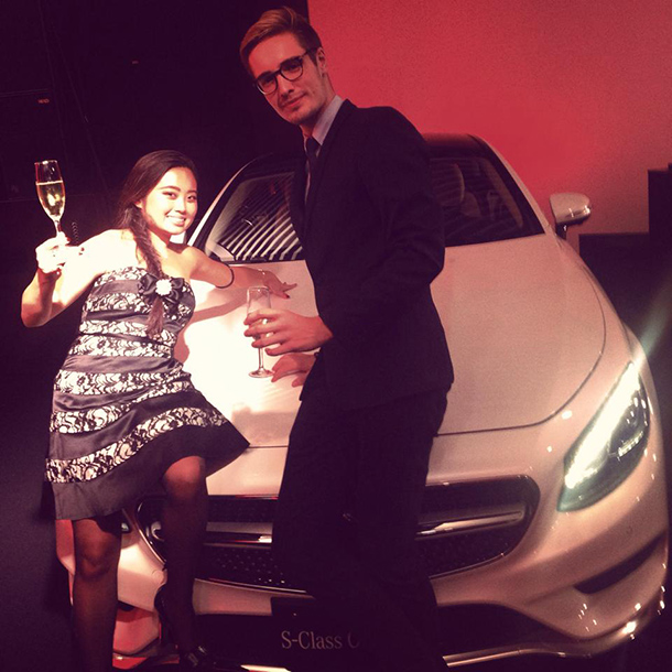 mercedes benz s class coupe party10