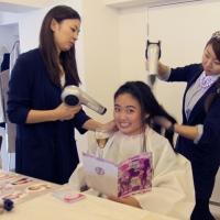 Champagne + Hair Blow = Jet Set Salon Tokyo