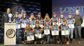 Bib draw ceremony for Longines Future SkiChampions