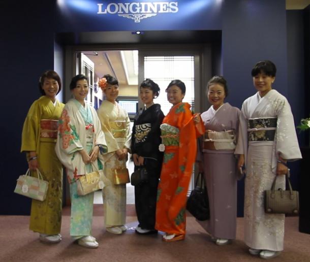 LONGINES Elegance Prize for the KIMONO miki1