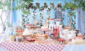 Garden party sweat buffet at Hilton TokyoOdaiba